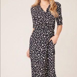 BB Dakota Floral Education Midi Dress NWT